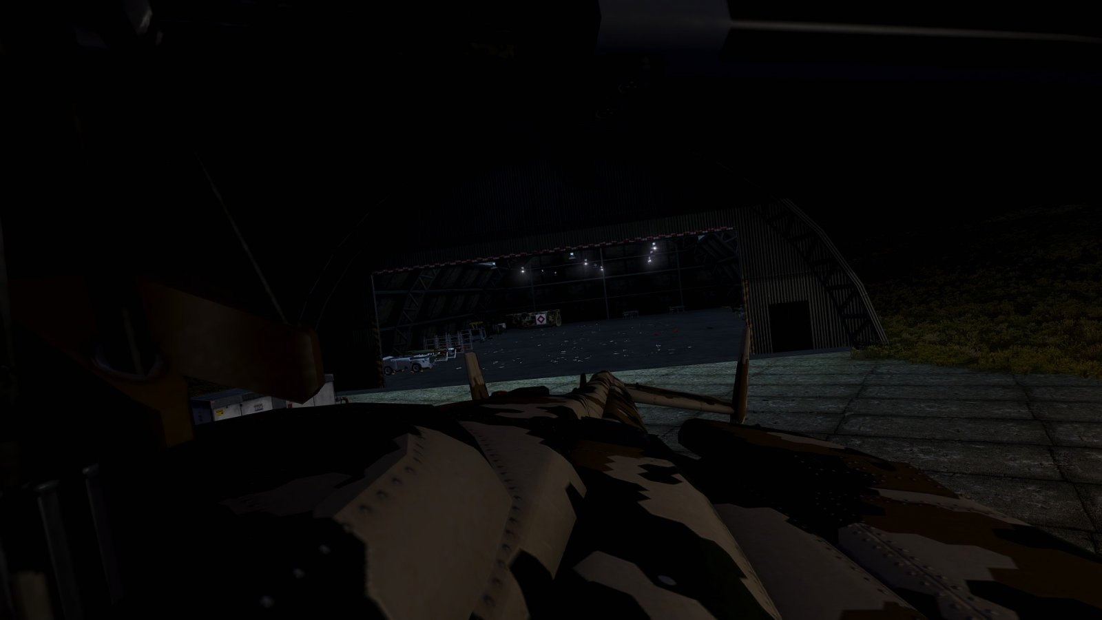 Verlassener Hangar