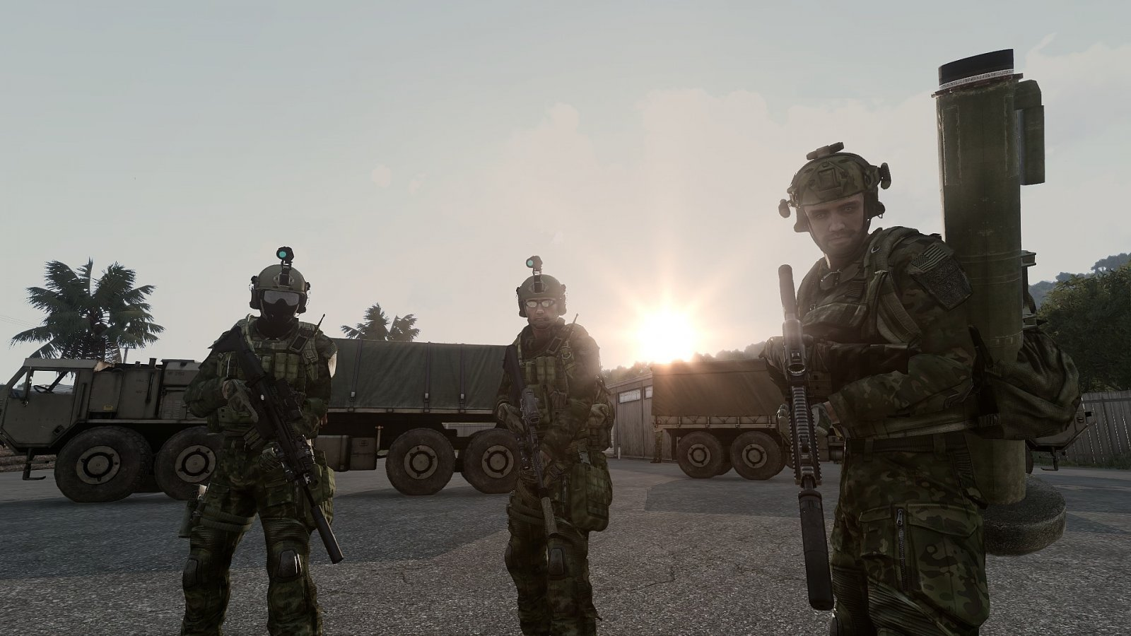 Soldiers at dawn