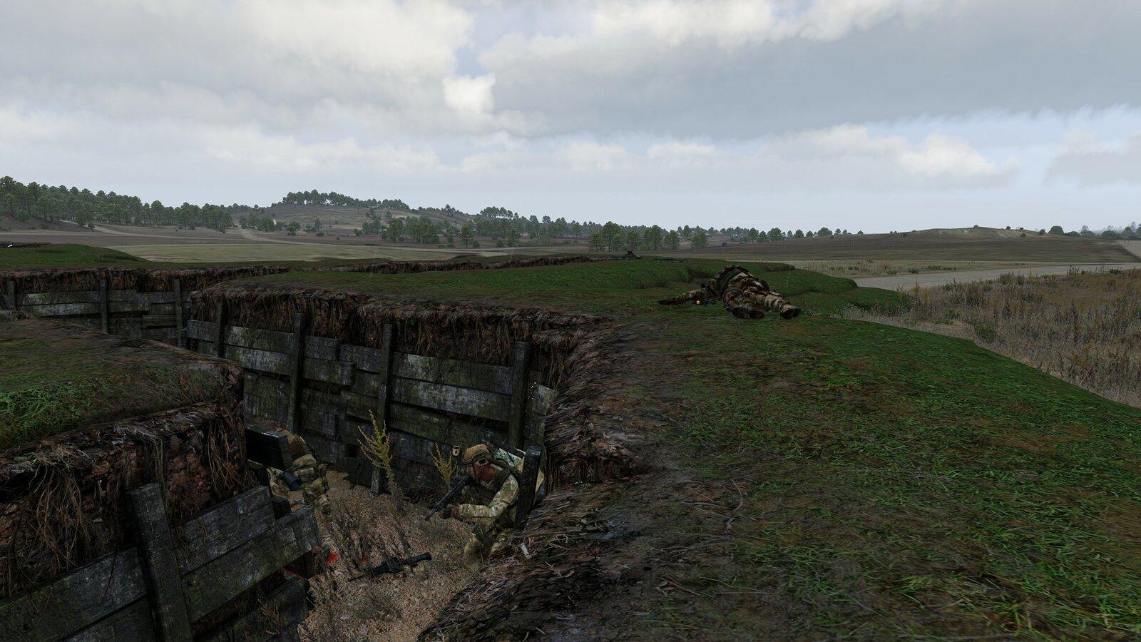 RED PLT beim Sturm und Einbruch in den Kampfgraben
