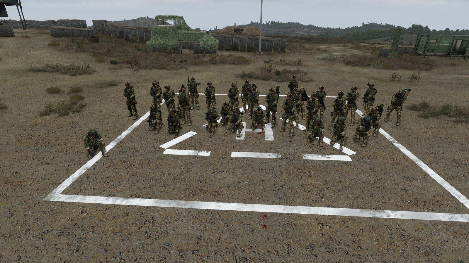 Abschluss Foto der Mission