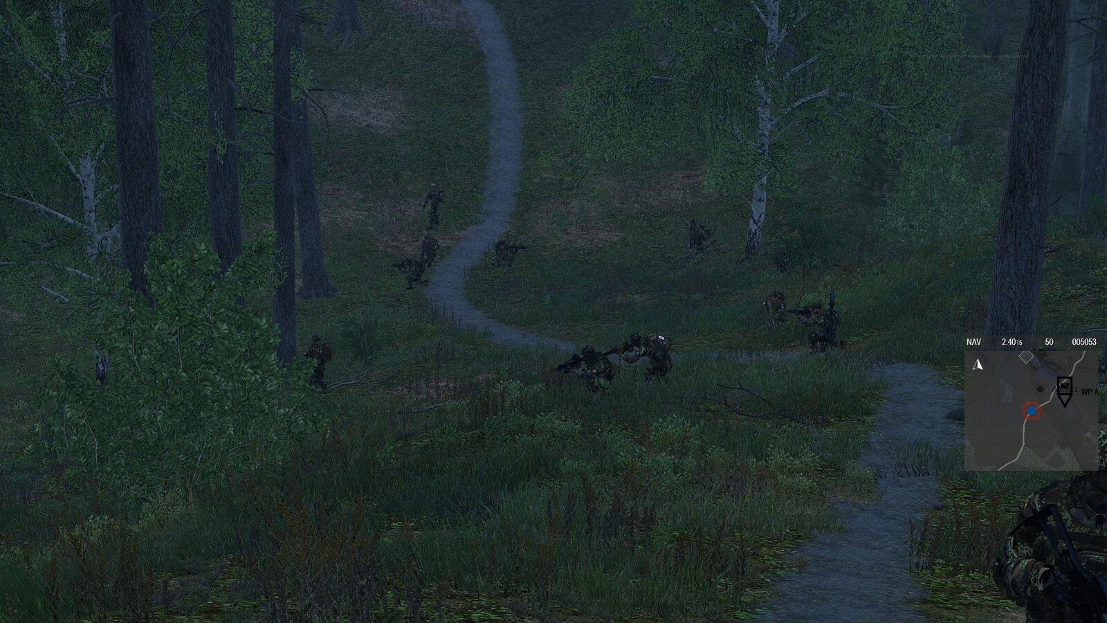 Sicherung im Wald Aufgebaut