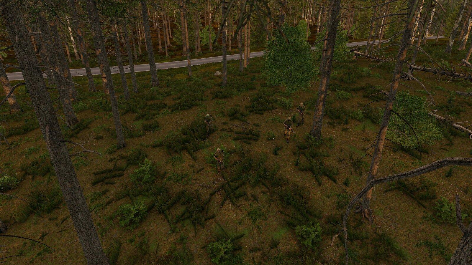 Soldaten im Wald