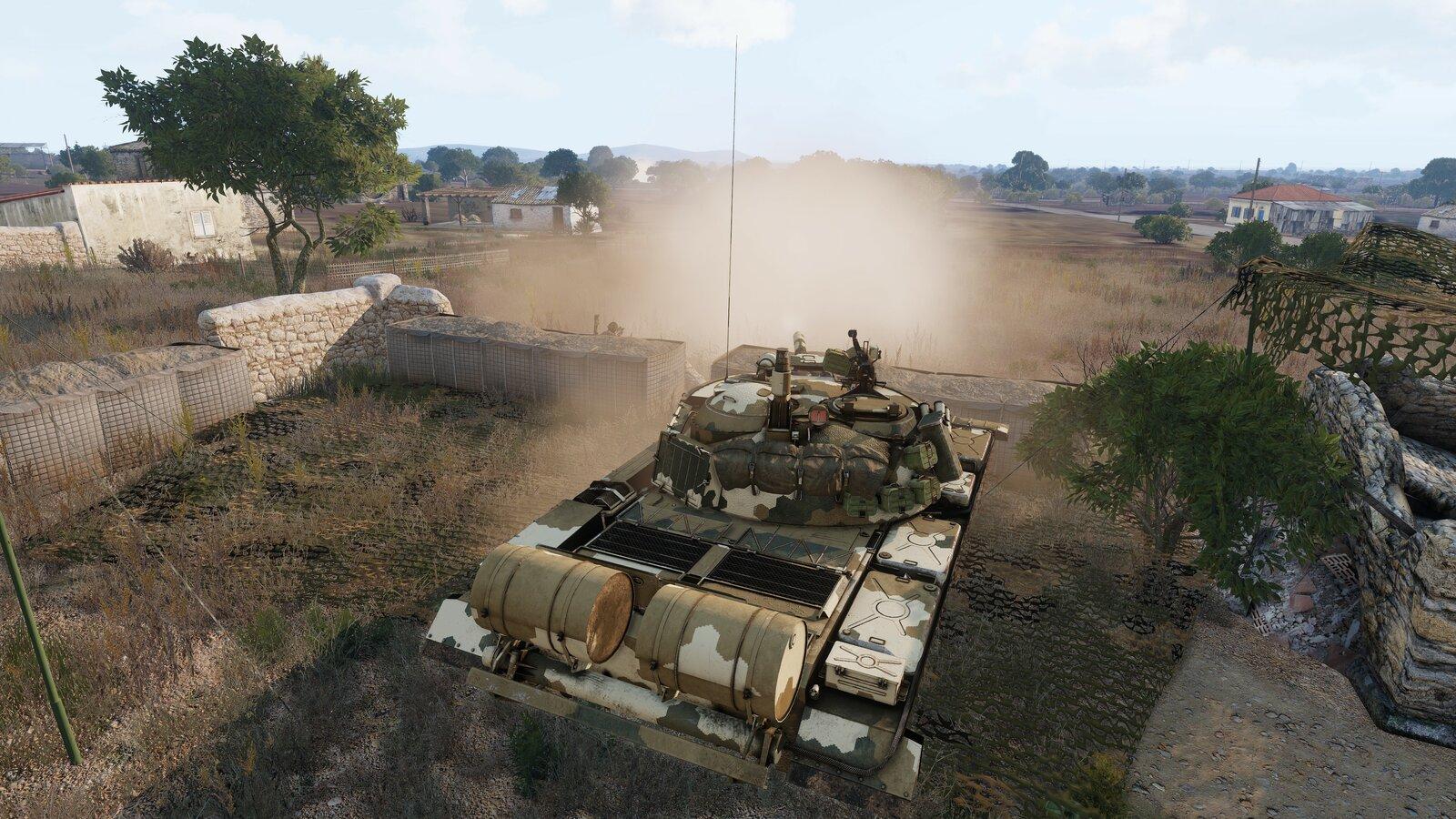 der T-55 hat eine fdl Gruppe im vorfeld aufgeklärt